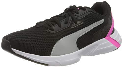 PUMA Unisex Space Runner Straßen-Laufschuh, Black White-Luminous Pink, 40 EU