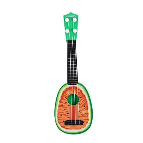 Milisten - Ukulele piccolo a forma di anguria, ukulele, strumento musicale per bambini, studenti, adulti, principianti, giocattoli educativi (rosso)