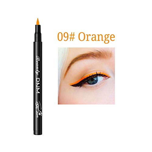 Wovemster Color Liquid Eyeliner Pen Durable Waterproof Anti-Allergic Long-Lasting Anti-Smudge Smooth Eyeliner Maquillage Cosmétique,Orange