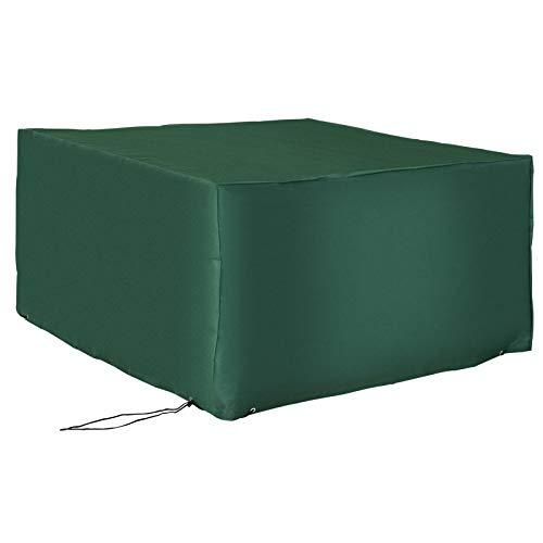 Outsunny UV Rain Protective Rattan Furniture Cover Cube Design Cover for Wicker Rattan Garden 135x135x75cm