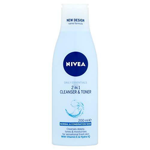 Nivea Visage Daily Essentials - Limpiador y tóner, 2 en 1, 200 ml