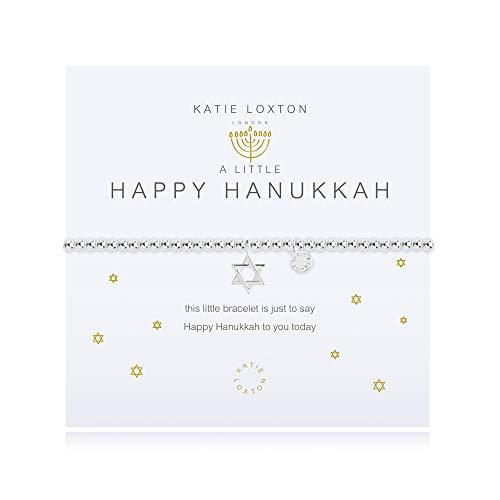 Katie Loxton a Little Happy Hanukkah Womens Stretch Adjustable Band Fashion Charm Bracelet