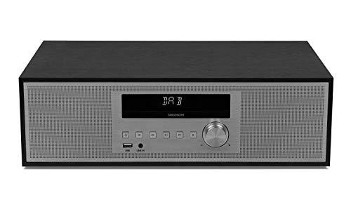 MEDION P64477 Mikroanlage mit CD und DAB+ (Stereoanlage, Kompaktanlage, Bluetooth 2.1, PLL UKW Radio, 2 x 15 Watt RMS, AMS, LED-Display)
