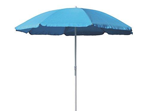 Profiline Aluminium Gartenschirm 180 cm, mit UV-Schutz 30 Plus, Knicker, höhenverstellbar, Farbe hellblau, 1002665