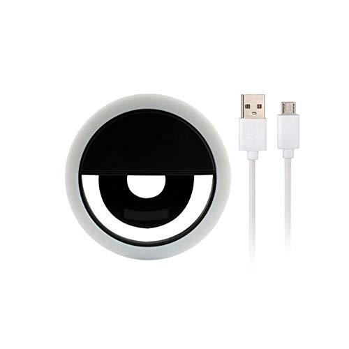 MOSINITTY Ring-Fülllicht, tragbare LED-Kamera, batteriebetrieben, für Make-up, Video, Live Studio, Schwarz