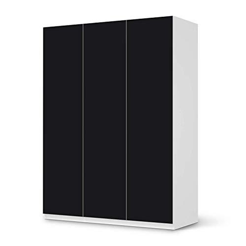 creatisto Wandtattoo Möbel passend für IKEA Pax Schrank 201 cm Höhe - 3 Türen I Möbeldeko - Möbel-Sticker Aufkleber Folie I Innendekoration für Schlafzimmer und Wohnzimmer - Design: Schwarz