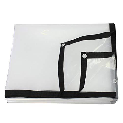 PENGFEI Bâche De Protection Imperméable Transparent Joint De Fenêtre Couverture De Balcon Toile En Plastique, Polyéthylène, Plusieurs Tailles (Couleur : Clair, taille : 2x5m)