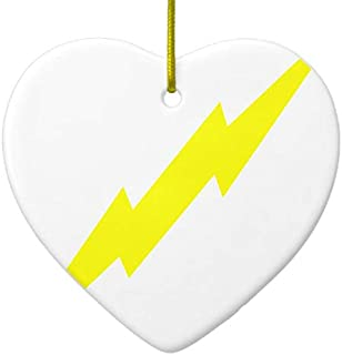 Yilooom Lightning Bolt Ceramic Ornament