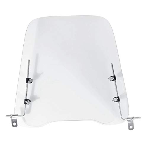 Dasing 3 mm dicker Motorrad-Windschutz für Kälteschutz, transparent, Polycarbonat-Platte, Roller-Windschutz