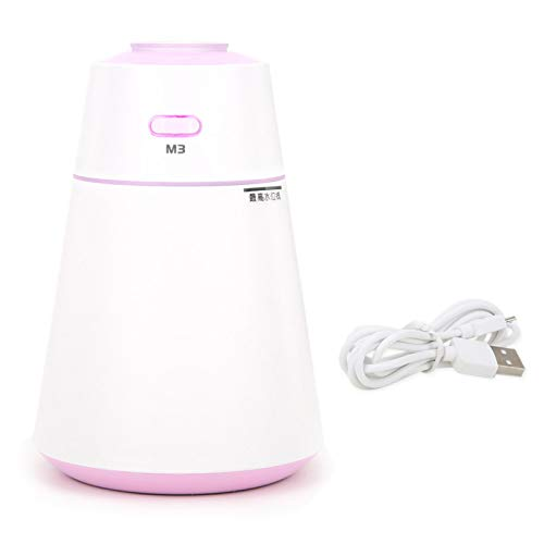 Pelnotac Humidificador USB, humidificador silencioso y fresco, con luces coloridas, difusor de aroma minimalista para el hogar, coche, color morado