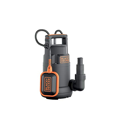 Black+Decker BXUP250PCE Pompa Immersione Per Acque Chiare, Portata Max. 6.000 L/H, Prevalenza Max. 6 M, 250 W