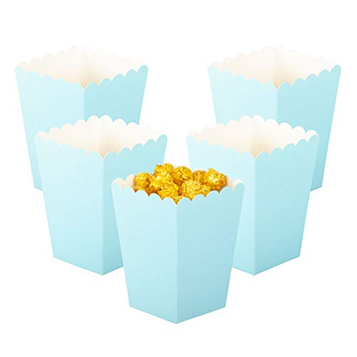 Big Save! YESON Blue Popcorn Boxes Mini Paper Popcorn Box for Party,Pack of 12