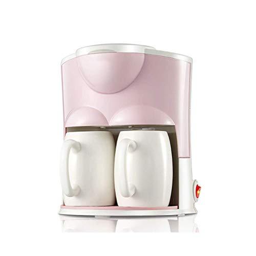 RGF Cafetera de Goteo Peque?a, cafetera automática recién molida, cafetera Estadounidense doméstica (Rosa) (Color : Pink)