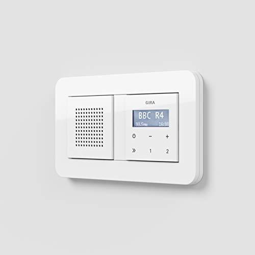 Gira RDS Unterputz Radio E3 mit Lautsprecher und Rahmen