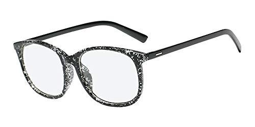 LONMEI Damen Brille - Quadrat Schwarz Gradient Vintage Klassische Ohne Sehstärke Unisex Klare Linse Mode Damen Herren Brillenfassung, Schwarz-Weiß