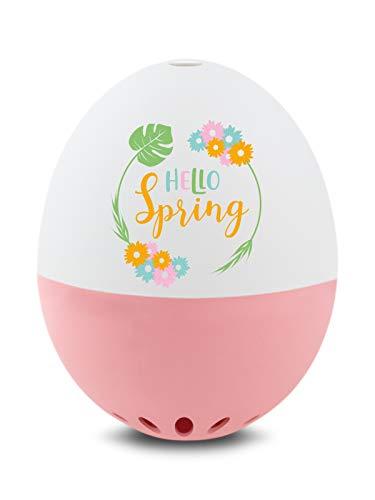Brainstream Frühlings PiepEi rosa, Eieruhr zum mitkochen, Spielt 3 Melodien für 3 Härtegrade, A005369