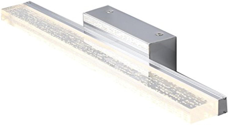 Nordic Wasserdichte Anti-Fog LED Spiegel Vorne Lichter Spiegel Schrank Lichter Bad WC Einfache Wand Lampe ( Farbe   Warmes Licht-60CM10W )