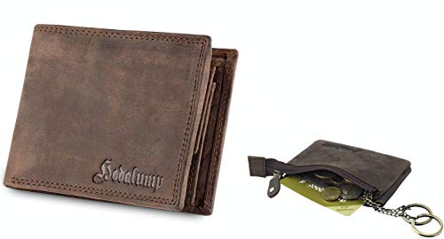 Hodalump Echt-Leder Geldbörse Herren mit Schlüsseletui Echt Leder Schlüsseltasche
