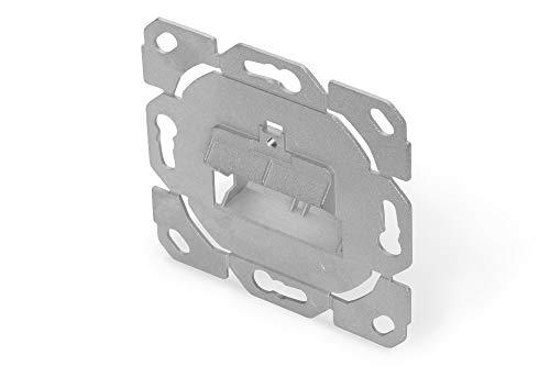 DIGITUS Anschlussdose Für Keystone-Modul - 2 Port - 45° Gewinkelt - Designfähig - Ohne Rahmen/Blende - Grau