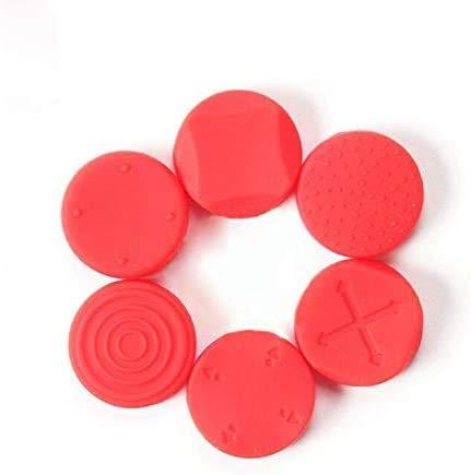 6 agarres para pulgar de silicona antideslizante para Nintendo Switch Poke Ball Plus Pokeball NS Baoke Dream Elf Ball Plus controlador (rojo)
