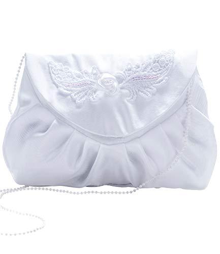 Princess Taufkleid Abendtasche aus Satin Clutch Elegant in Weiss und Ivory - Modell 32