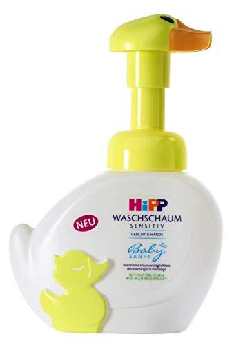 Hipp Babyzacht wasschuim eend gevoelig gezicht en handen (3 x 250 ml)