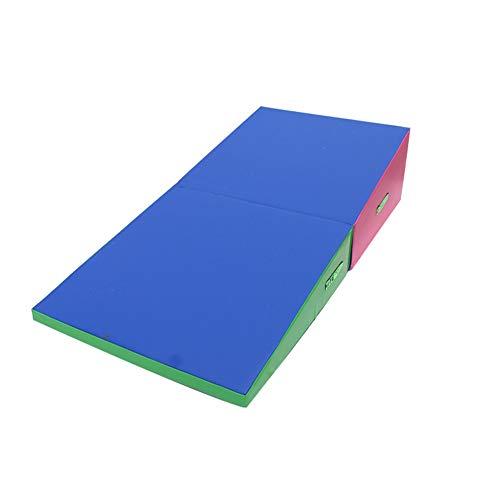 LXHONG Soft Slope Pad, Gymnastik Tanzmatte, PVC-Sprungbox, Die Weichen Sprunghocker Klappt Zum Taekwondo Gleichgewichtstraining (Color : A, Size : 180x90x40cm)