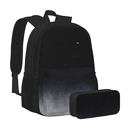 Sac à dos multifonctionnel unisexe et trousse à crayons, sac d'école de loisirs en deux pièces indispensable pour le début de la saison scolaire, After We Die