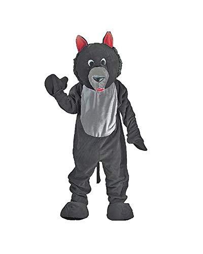 Dress Up America Disfraz de Mascotaa de Lobo Negro Adulto