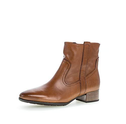 Gabor Damen Stiefeletten, Frauen Ankle Boots,Comfort-Mehrweite,Reißverschluss, feminin elegant Women's Women Woman,Cognac/EF (Micro),41 EU / 7.5 UK