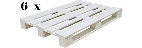 Dydaya 6 x Palets Pintados de Blanco para Muebles de Interior & Exterior y Decoracion & Bricolaje & Jardin & Terraza & Patio & Balcon