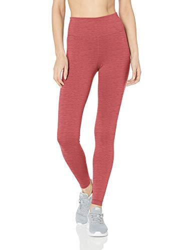 Nike One Leggings da Donna, Donna, Maglie, AJ8827, Rosso/Nero (Cedar/Light Redwood/Black), XL