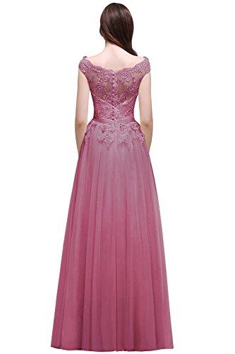 MisShow Damen Abendkleider elegant für Hochzeit Ballkleid lang Damen Prinzessin Tüll...