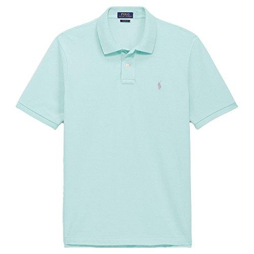 Polo Ralph Lauren Herren-Poloshirt mit klassischer Passform, groß und hoch, Netz-Polo -  Grün -  1X Groß