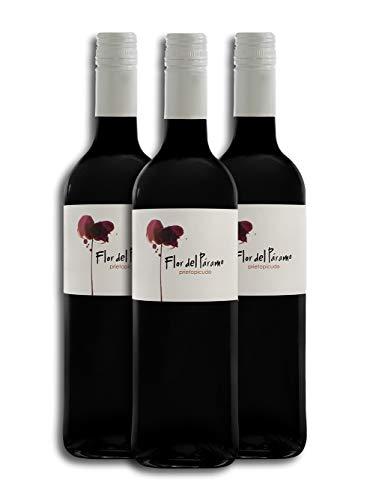 Vino Tinto - Leyenda del Páramo - Flor Del Páramo - Vino Premiado - Caja de 3 botellas de 75 cl. - Envio en caja protectora de alta resistencia para un transporte 100% seguro