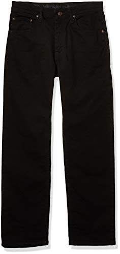 Wrangler Authentics Men's Regular Fit Comfort Flex Waist Jean, Black, 40W x 34L