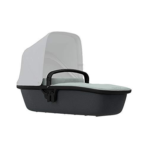 Quinny Lux Kinderwagenaufsatz, passend für Buggy Zapp Flex und Zapp Flex Plus, ultraleichte Babywanne, robust und atmungsaktiv, innovatives Design, nutzbar ab der Geburt bis 6 Monate, grey on graphite