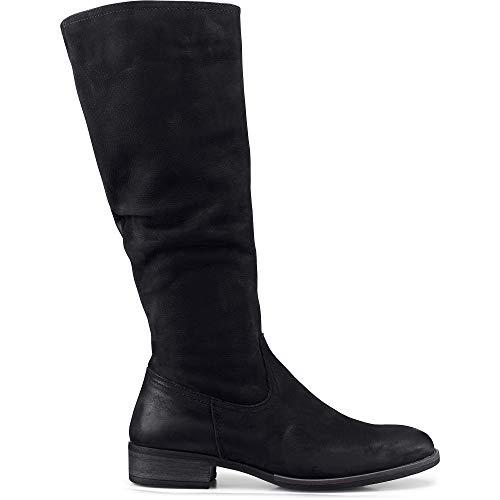 Cox Damen Langschaft-Stiefel Schwarz Leder 39