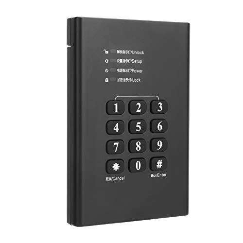 Caja de Disco Duro Móvil de 2.5 Pulgadas Caja de Caja SATA HDD USB 3.0 Cifrada Portátil