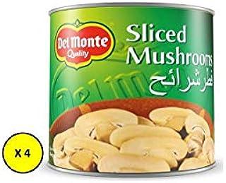 Del Monte Canned Sliced Mushrooms ,200 gms - (Pack of 4)