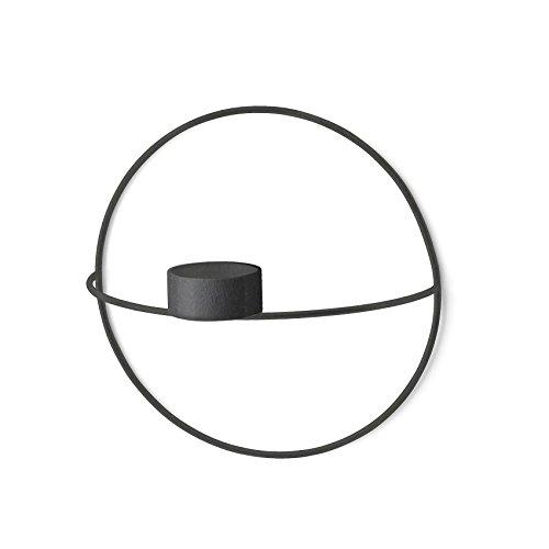 Menu POV Circle Wandteelichthalter S, schwarz pulverbeschichteter Stahl H 12cm, Ø 20cm