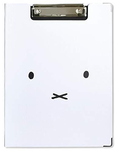 Miffy ST-ZMF0037 Clipboard, Face, White, A4 Size Compatible