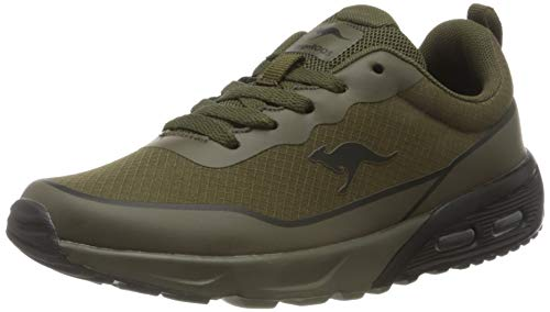 KangaROOS Jungen KX-3500 Sneaker, Olive/Jet Black 8010, 40 EU
