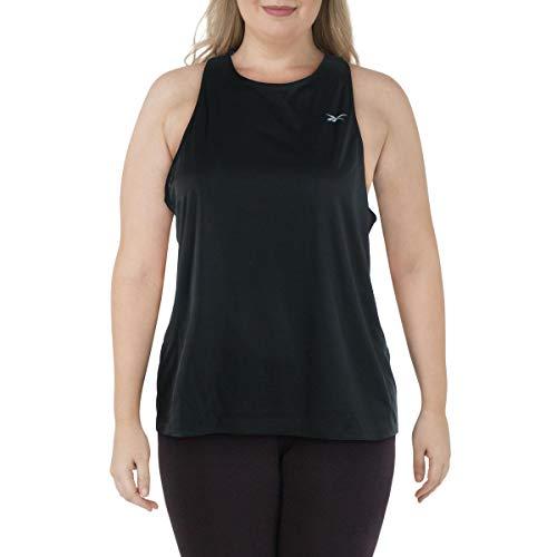 Reebok Running Essentials Camiseta sin Mangas para Mujer, Mujer, Camiseta de Tirantes Anchos, GJI62, Negro, XL