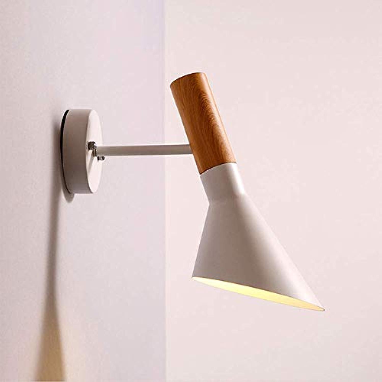 CL-C Jane europische Moderne dekorative LED-Nachttischlampe kreativer Lampenkorridor Korridorkaffee-Holz Kunst,Weiß