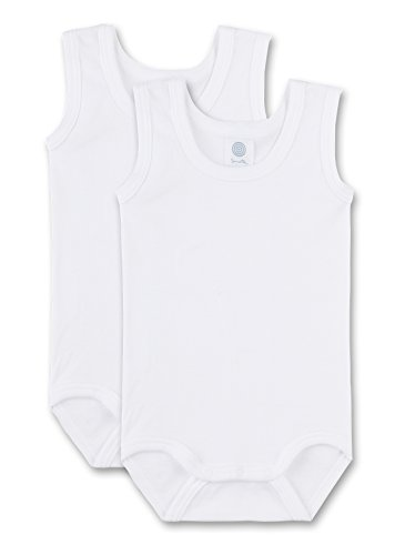 Sanetta Unisex - Baby Body 321859, 2-pack, effen