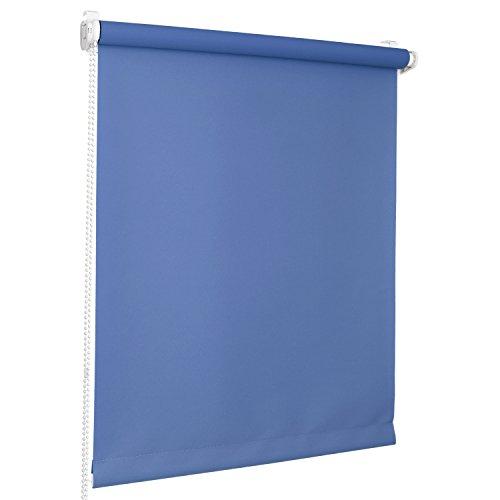 Rolmaxxx ROLLMAXXX Rollos Lichtdurchlässigrollo Fensterrollo Klemmfix ohne Bohren (70 x 150 cm, Blau)