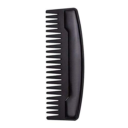LJK Portable Hommes Barbe Shaping Template Acier Inoxydable Barbe Peigne Hommes Cheveux Barbe Garniture Outil, Noir