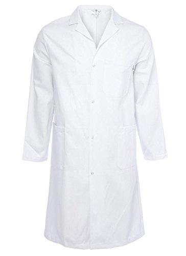 Highliving Unisex White Lab Coat Laboratory Coat Warehouse Coat Doctor's...