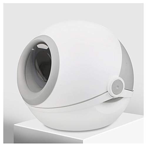 Maisons de toilette pour chats bac à litière de Chat, entièrement Clos très Grand Toilette de Chat, déodorant et Anti-éclaboussures, Pot de Chat, Chat fournit des Chats nécessaires (Color : Gray)